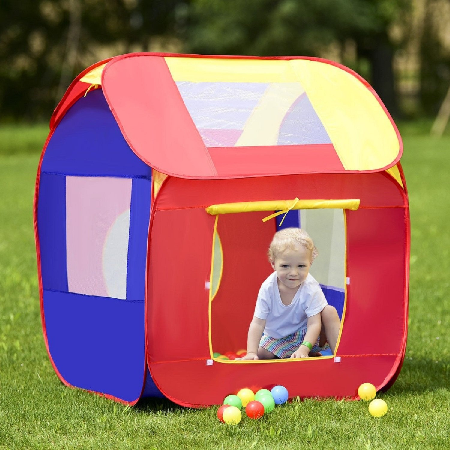 COSTWAY Portable Kid Baby Play House Toy Tent SpiritOne