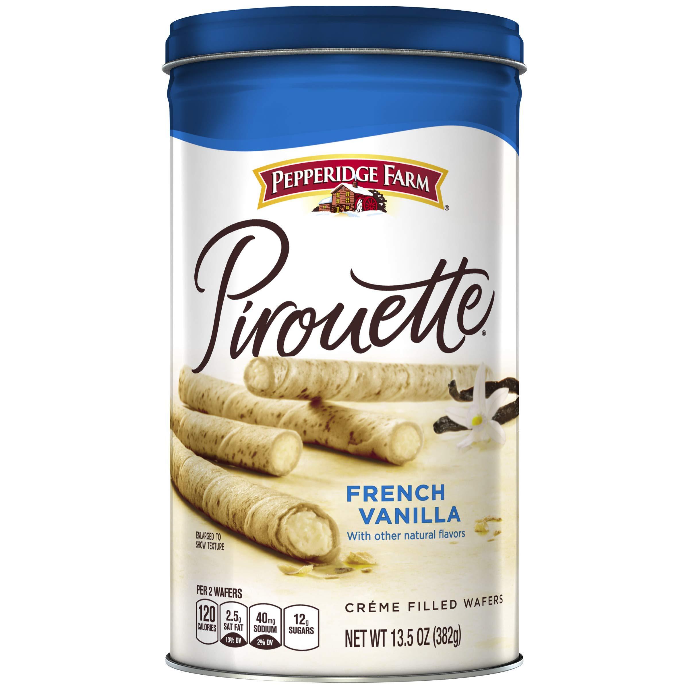 Pepperidge Farm Pirouette Crème Filled Wafers French Vanilla Cookies, 13.5 oz. Tin
