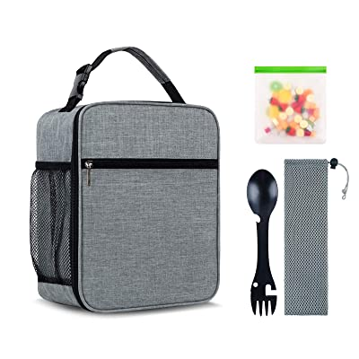 Students Adult Kids Insulated Lunch Bag School Picnic Office Work Storage Bag