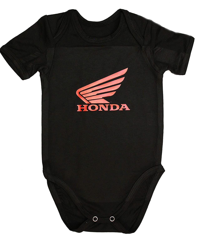 Honda Traje Body Bebe Logotipo Etiqueta Pegatinas de la Camiseta Logo Negro de Deporte Algodón RS s-Line