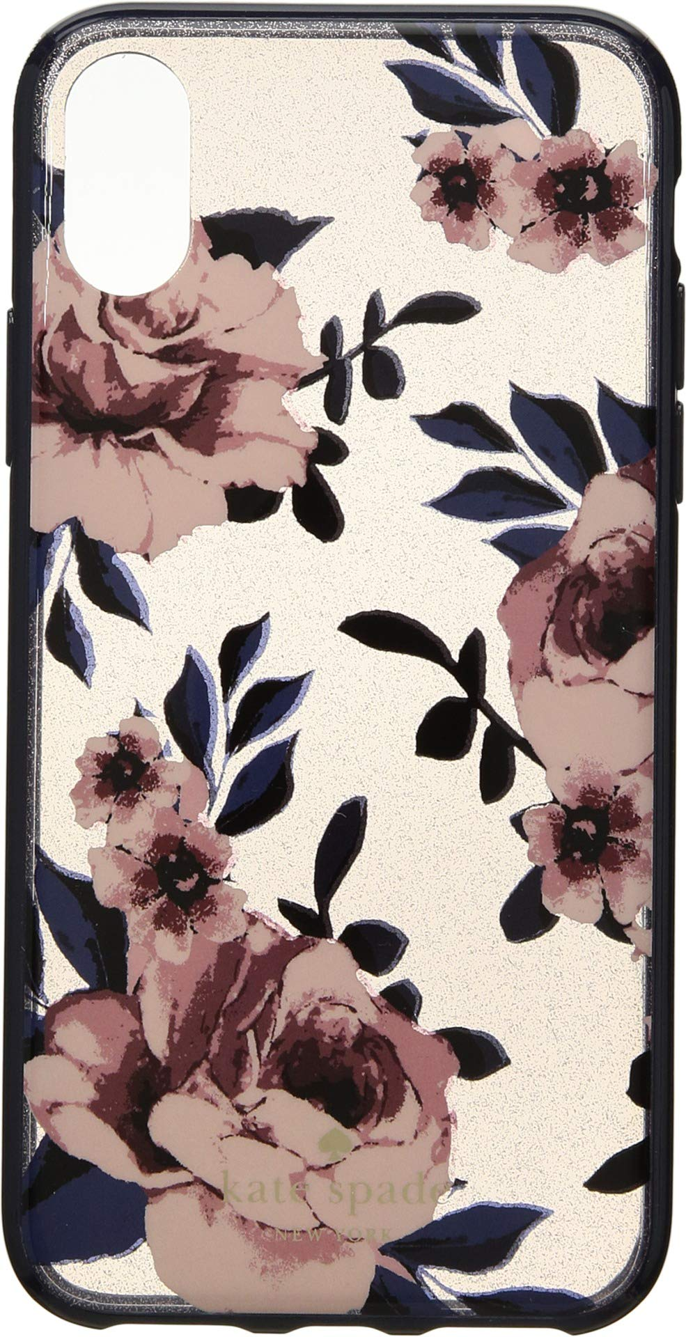 Kate Spade New York Women's Glitter Prairie Rose Phone Case for iPhone X Multi One Size