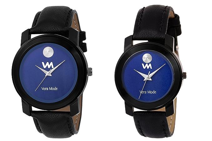 Couple Collection Quartz Analogue Blue Movado Dial Unisex Watches
