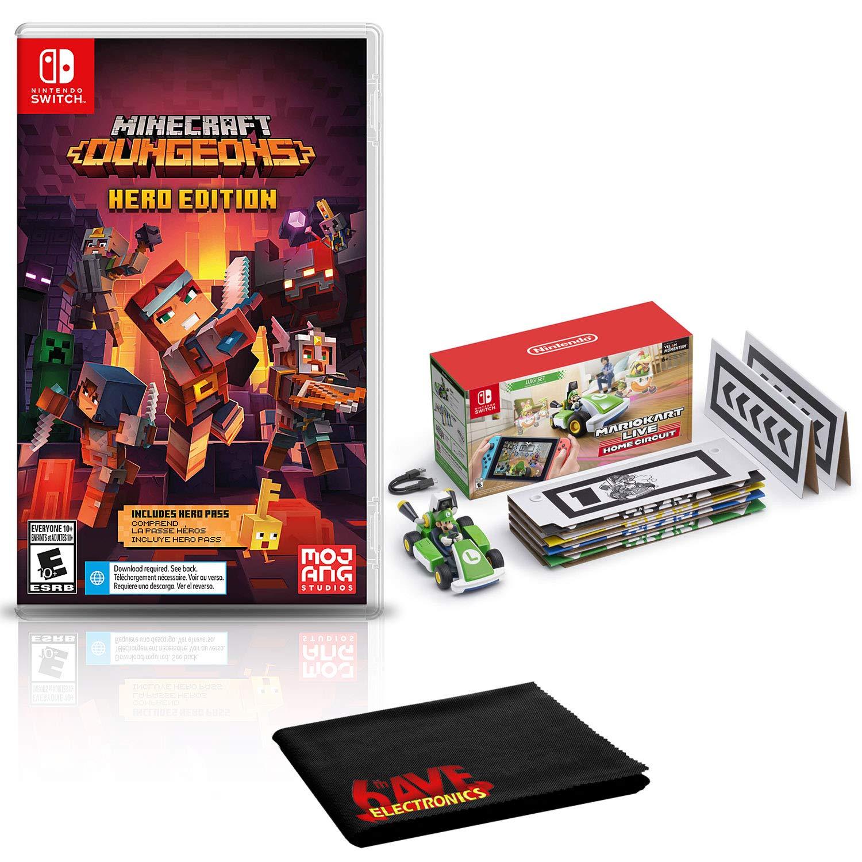 Amazon.com: Minecraft Dungeons Hero Edition + Mario Kart Live