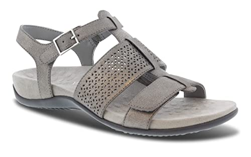 7d4ab323afab3 Vionic Women's Rest Goldie Backstrap Sandal - Ladies Adjustable Sandals  with Concealed Orthotic Support