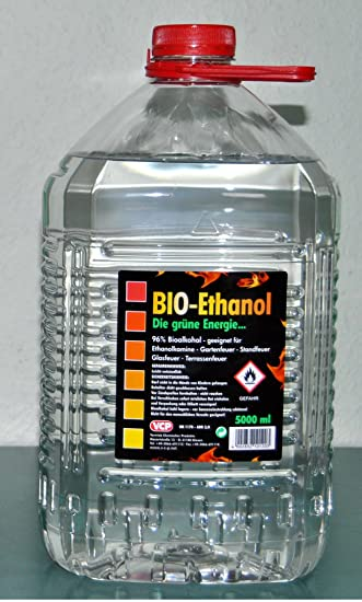 Kamin Alkohol 5 liter bioethanol 96 bio alkohol die grüne energie kamin