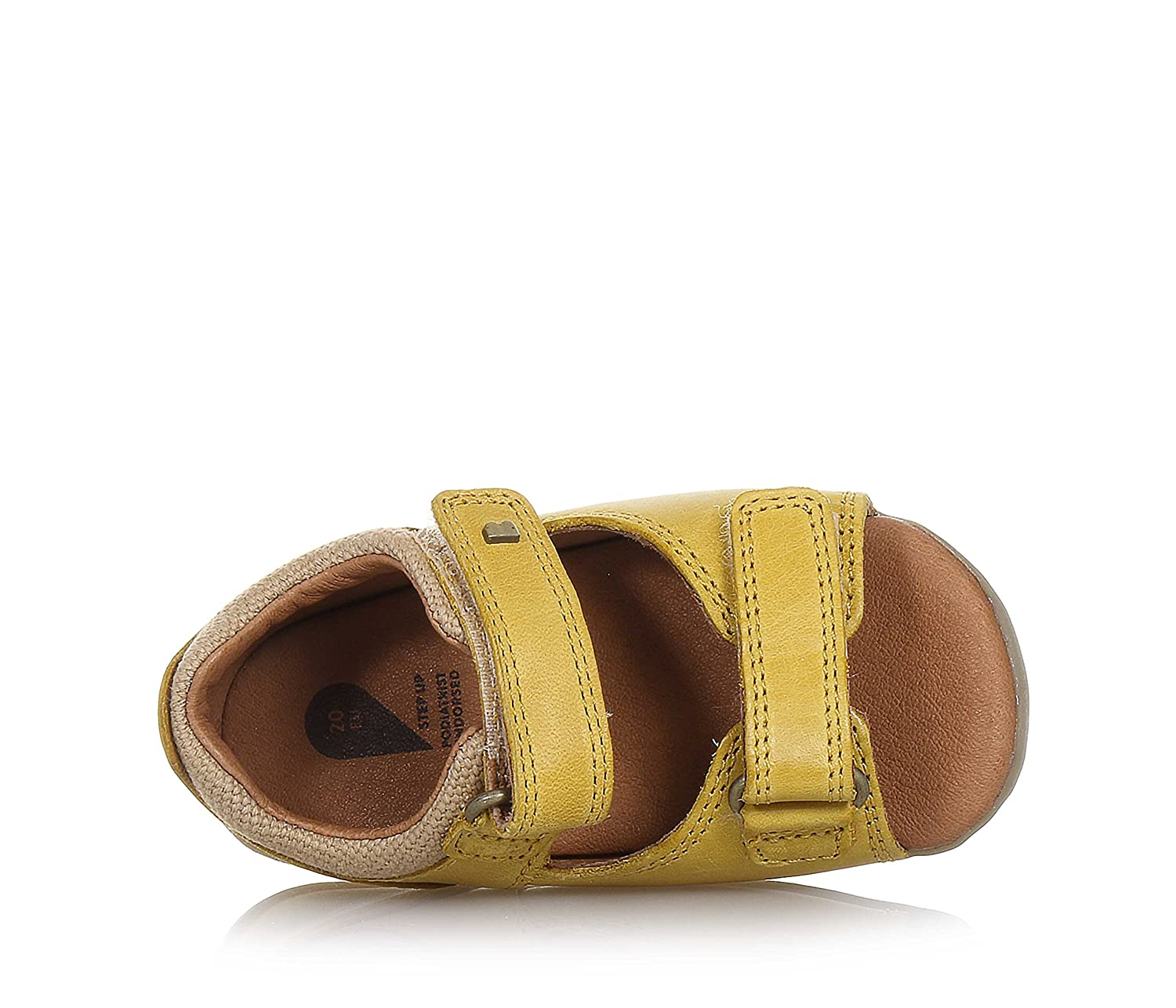 728605 Bobux Step up Driftwood Sandal Chartreuse Yellow