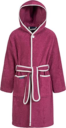 Long Morgenstern Dressing Gown Girls Kids Teenager Hooded Cotton