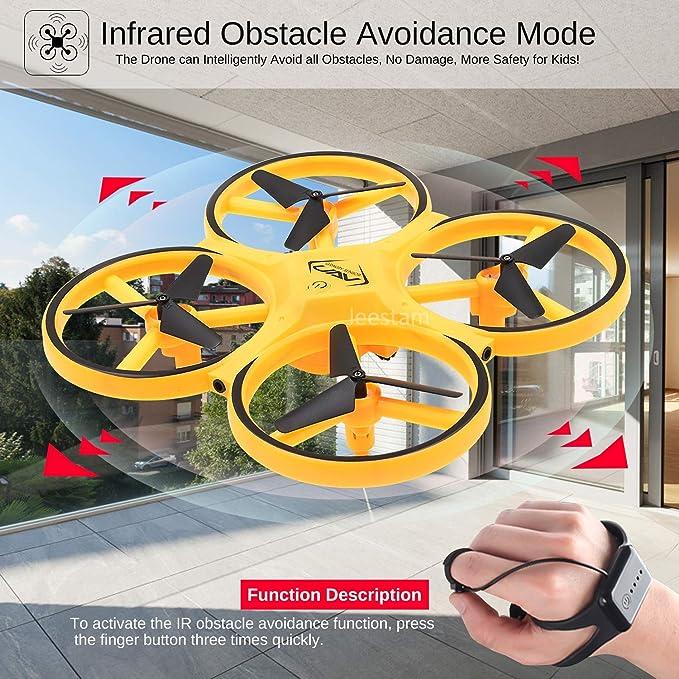 YOUSI Mini Drone RC Animal RC Bee Avi/ón de inducci/ón Nuevo Sensor de Mano con Sensor de Infrarrojos Luz LED port/átil Helic/óptero RC Aviones Juguete