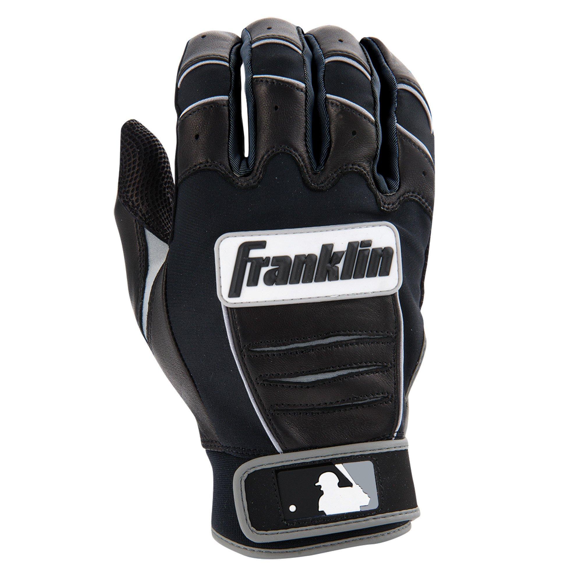 Franklin Sports MLB CFX Pro Batting Gloves, Black/Black (2015) by Franklin Sports (Image #2)