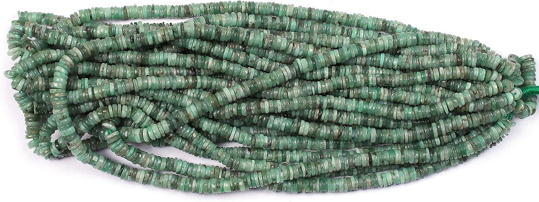 Neerupam Collection 6mm to 7mm Turquoise synth/étique Naturel Heishi Tyer Lisse Perles Semi-pr/écieuses en Vrac pour la Fabrication de Bijoux Collier Boucles doreilles 16 Pouces Brin Perles Heishi