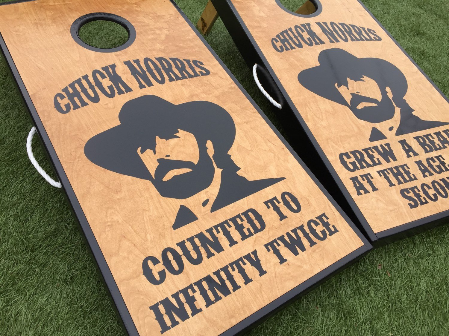Chuck Norris Custom Cornhole Board Set