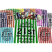 Personalised Birthday Sweet Bags Birthday Party Bags - Printed Candy Stripe Bags