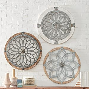 Heritage Round Wall Art - Metal Decorative Wall Medallions, Hand-Made Creative Wall Art, Wall Decor Gift for Home, Bedroom, Living Room, Outdoors