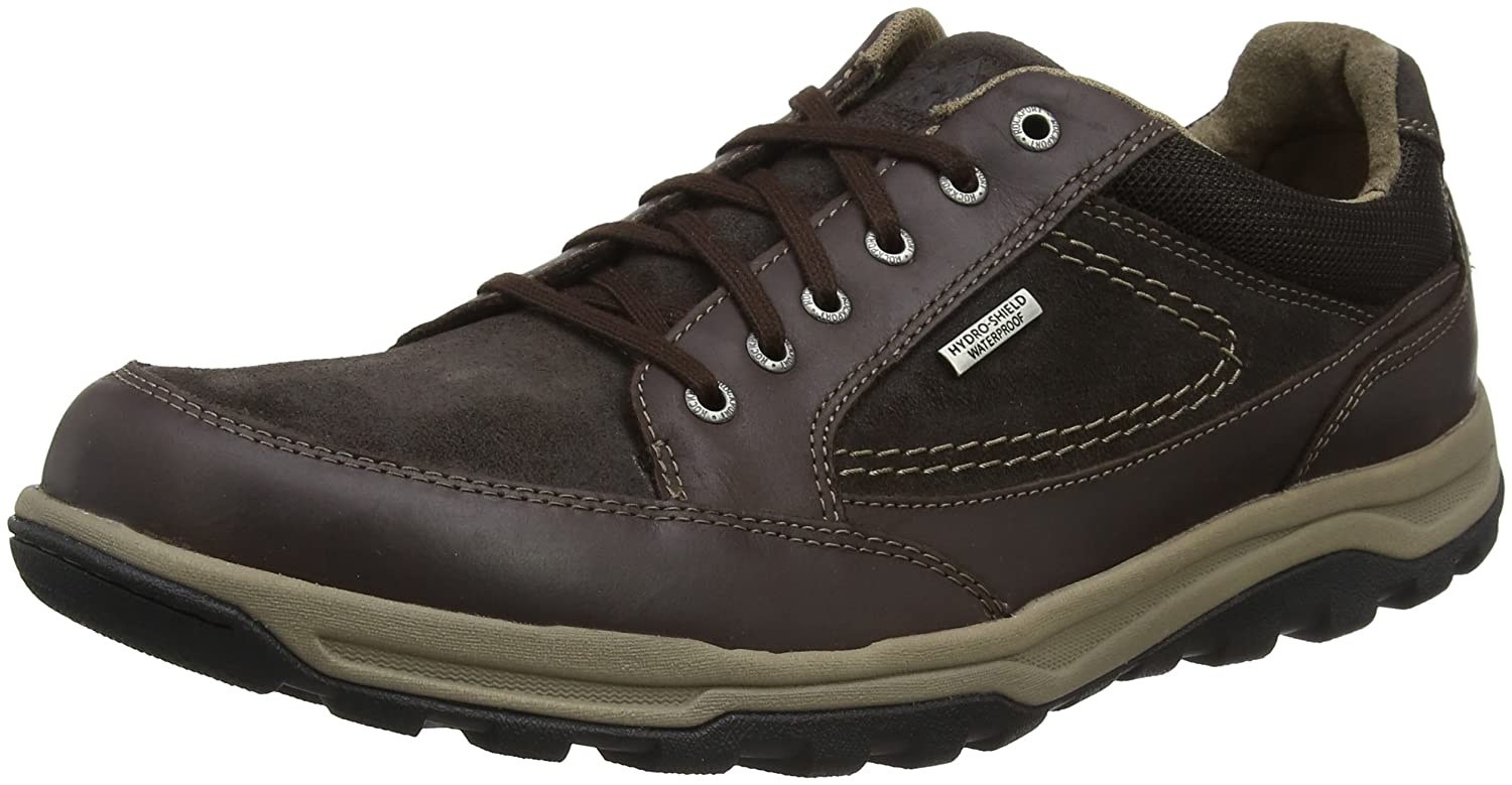 TALLA 44.5 EU. Rockport Trail Technique Waterproof Oxford Brown, Zapatos de Cordones Derby para Hombre