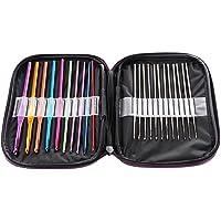 SYGA 22 Pcs Multicolor Aluminum Handle Crochet Hook Knitting Knit Needle Weave Yarn Set