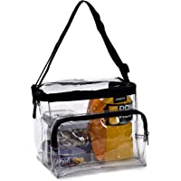 Clear Lunch Bag - Durable PVC Plastic See Through Lunch Bag with Adjustable Shoulder Strap Handle for Prison…