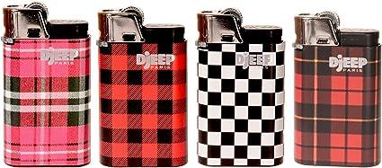 12 Djeep Plaid Lighters with Display