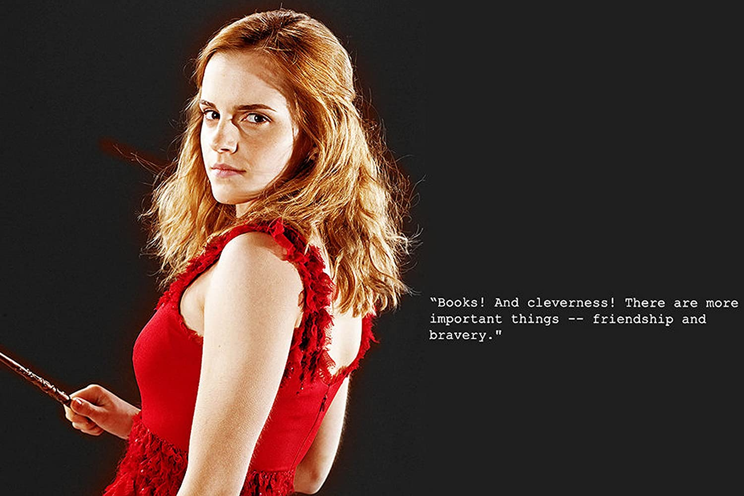 Poster Print bySuper Collection 12 x 18 inch Holding a Magic Stick Hermione Granger Rolled