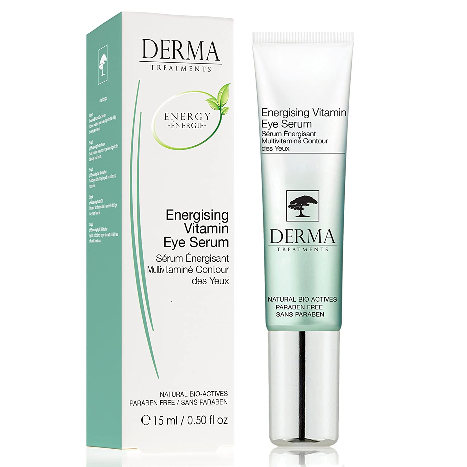 Anti Ageing PREMIUM Eye Serum with Vitamin E & Aloe Vera for Dark Circles, Puffiness - Best for Eye Wrinkles - Clinically tested with all natural indigents - For all Skin types - MADE IN UK - DERMA skinChemists DTEVES DTEVES_-15ml
