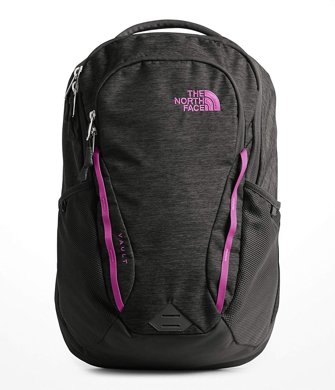 0640ee3c03 Galleon - The North Face Women's Vault Laptop Backpack (Asphalt Grey Dark  Heather/Dramatic