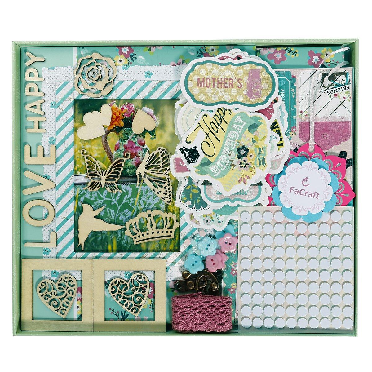 FaCraft 8x8 Scrapbooking Kit for Girls 4336981415