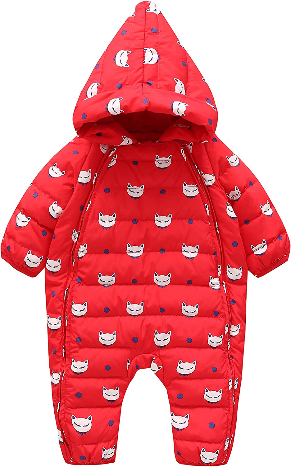 Cnajii Baby Infant Boy Girl Winter Down Snowsuit Warm Hooded Jumpsuit