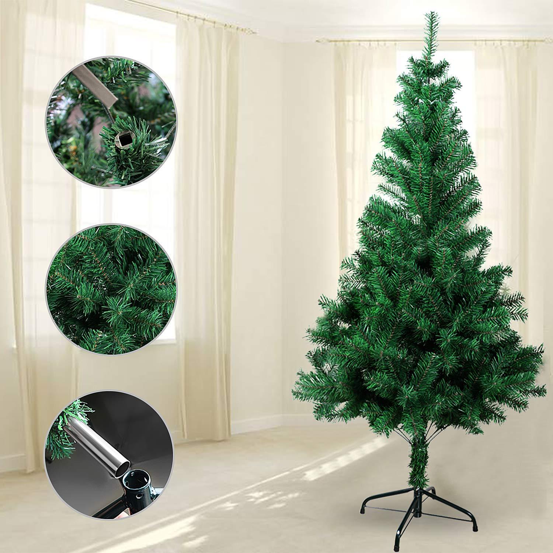 OZAVO /Árbol de Navidad Artificial de Pino,Verde,120cm 200 Ramas,Arboles Decoraci/ón Navide/ña,Maxi-Relleno PVC Abeto,Soporte Met/álico