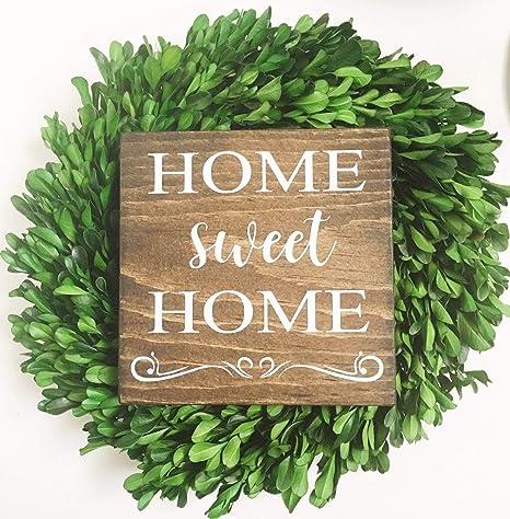 CELYCASY Home Sweet Home - Cartel de Madera para el hogar ...
