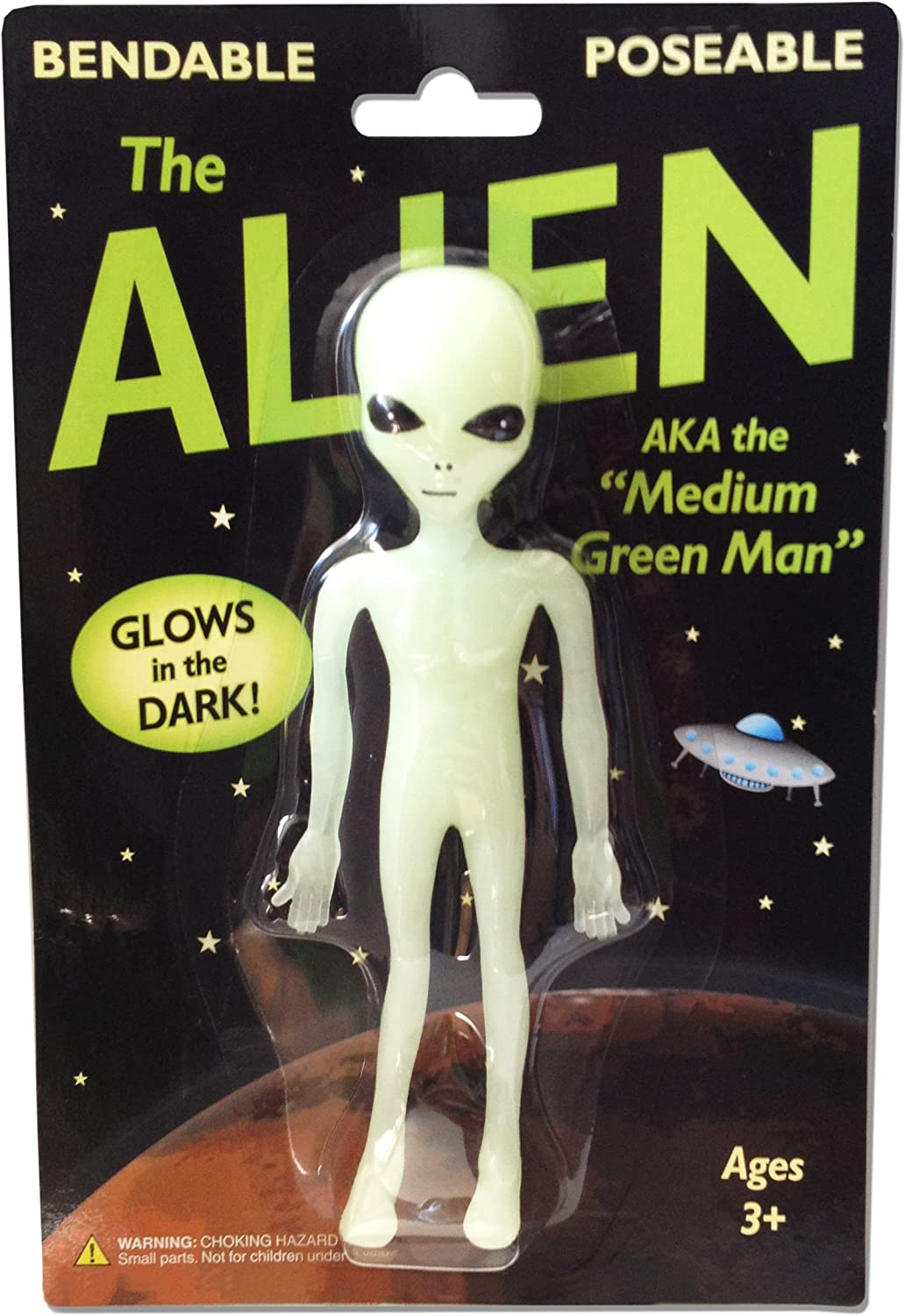 Alien Glow-In-The-Dark Bendable Action Figure Toy Game Play Gift New