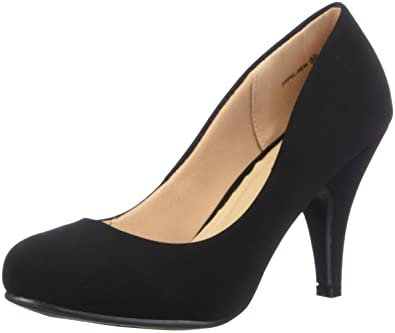 8dc44503a3c DREAM PAIRS ARPEL Women s Formal Evening Dance Classic Low Heel Pumps Shoes  New Black Nubuck Size