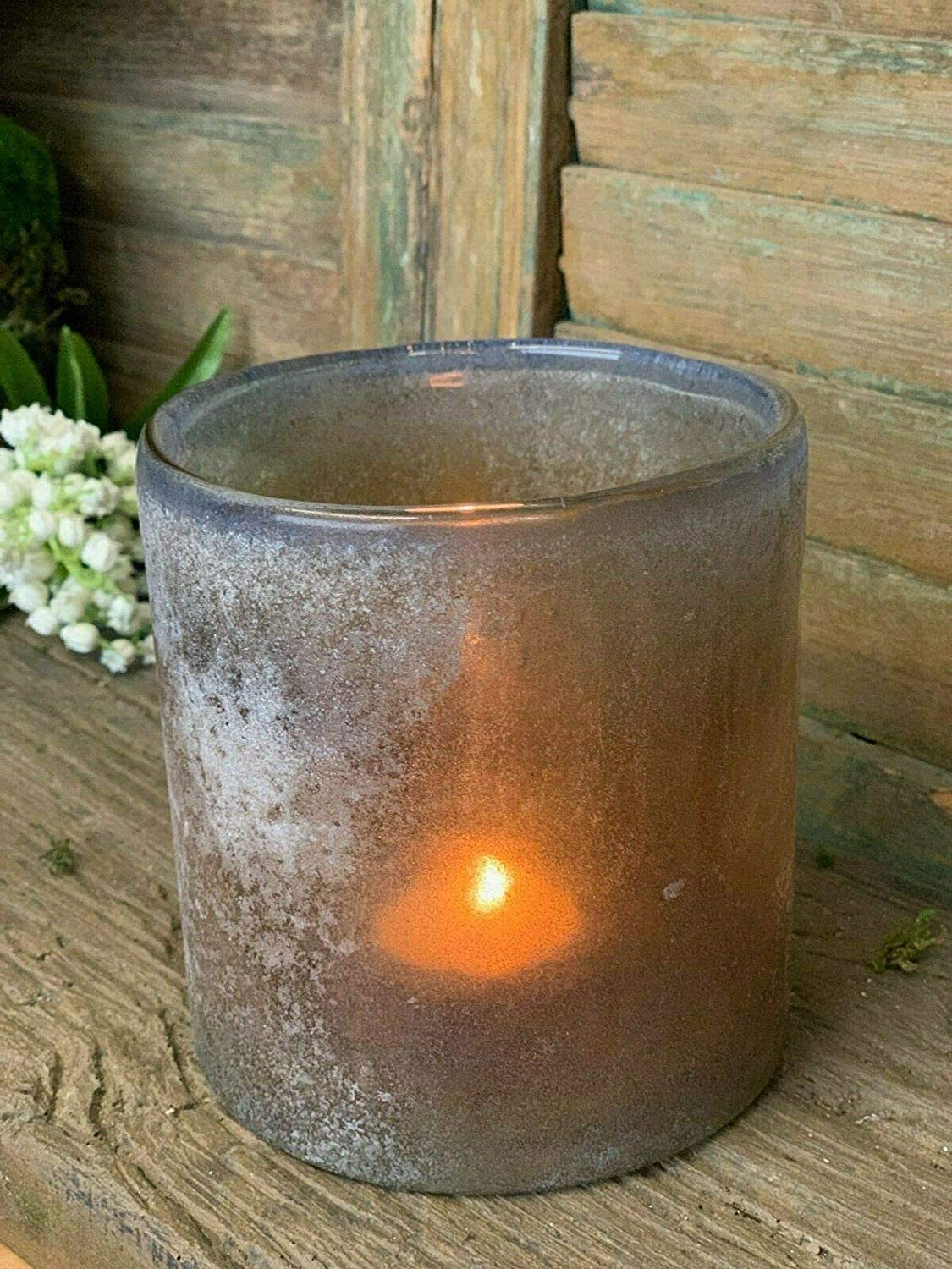 Homes on Trend Tea Light Votive Candle Holders Smokey Grey Glass Rustic Festive Wedding Table Decorations Centrepiece Settings Vintage Shabby Chic Tealight Holder Ornate Home Accessories