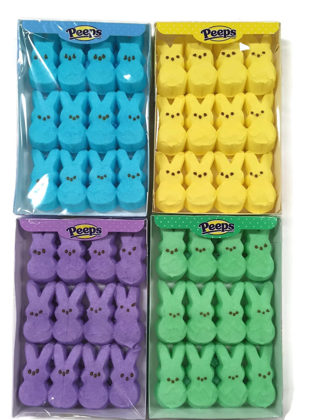 Easter Marshmallow Peeps Bunnies Variety Pack 4 Count by PEEPS (Image #1)