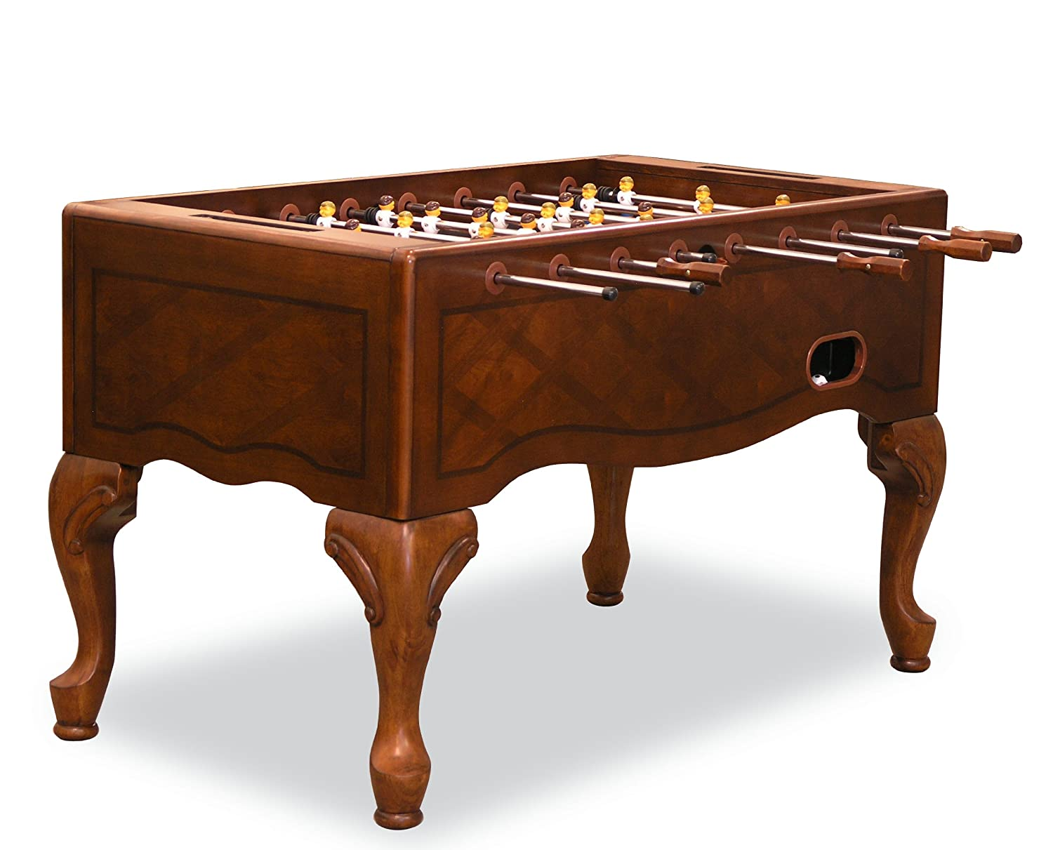 Amazon.com : Fairview Game Rooms Traditional Style Foosball Table With  Queen Ann Legs (Chestnut) : Sports U0026 Outdoors