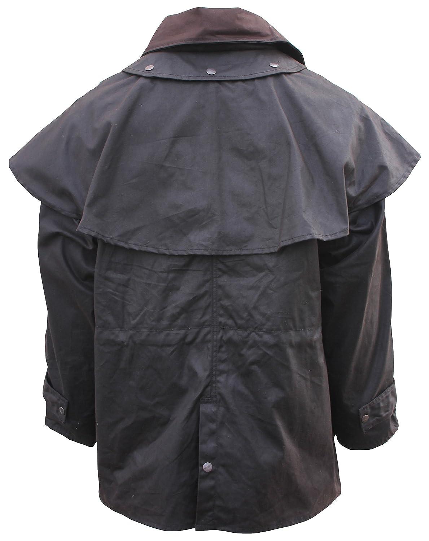 Oilcloth Outback Trail by Foxfire Waterproof Duster Short Coat Oilskin