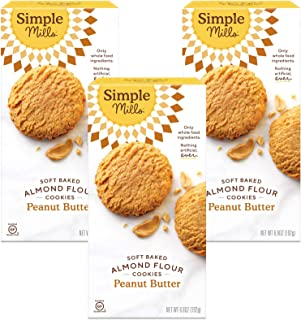 product image for Simple Mills Almond Flour Peanut Butter Cookies, Gluten Free and Delicious Soft Baked Cookies, Organic Coconut Oil, Good for Snacks, Made with whole foods, 3 Count (Packaging May Vary)