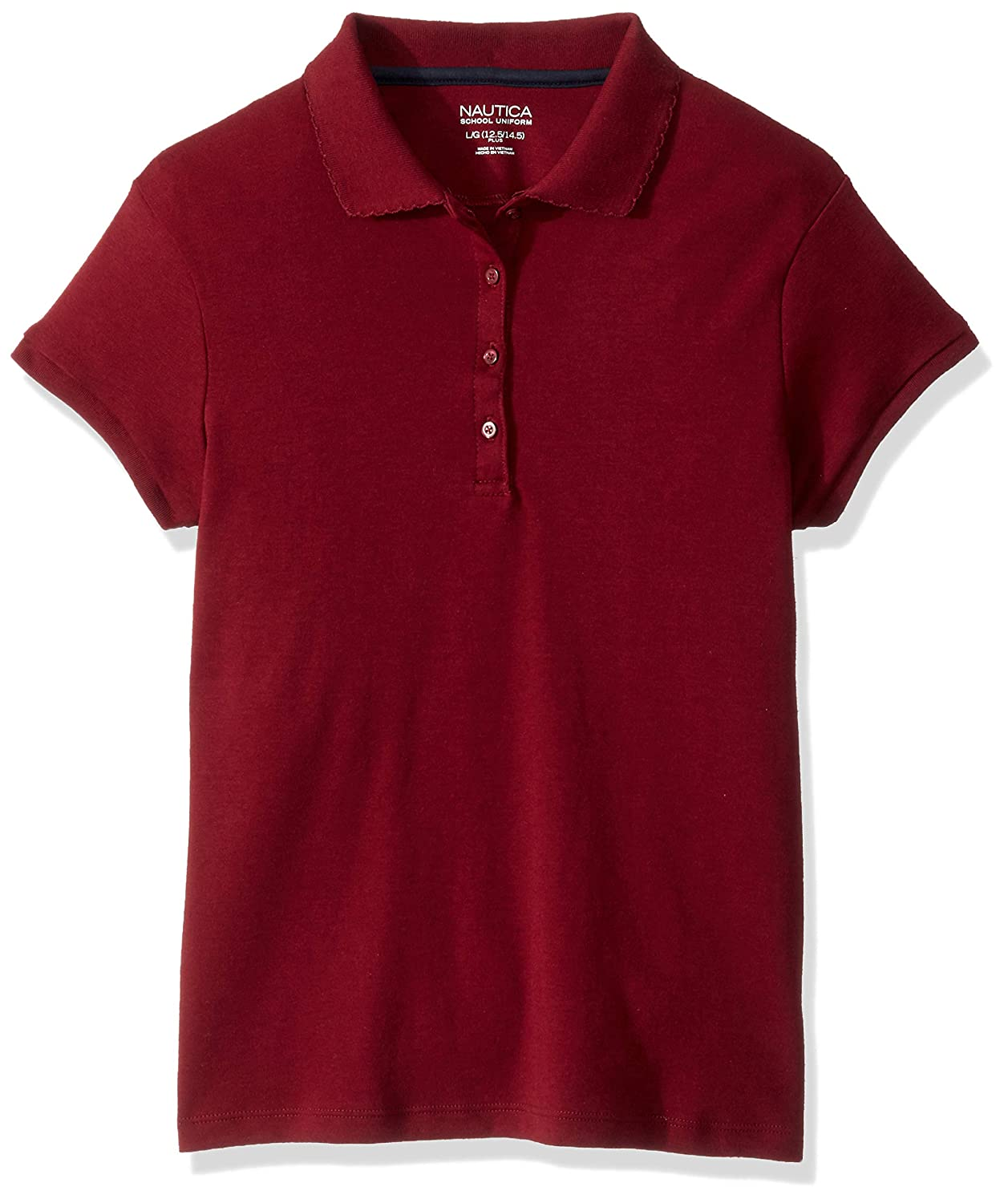 Nautica Girls Short Sleeve Polo, Burgundy, M(8.5/10.5): Amazon.es ...