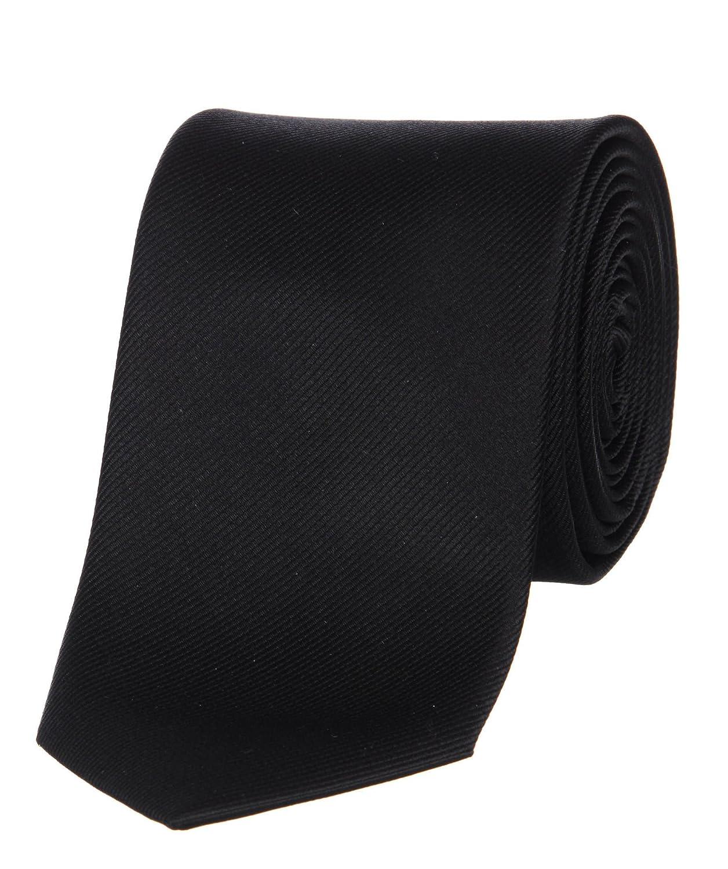 OLYMP Hombre seda corbata negro Talla única: Amazon.es: Ropa y ...