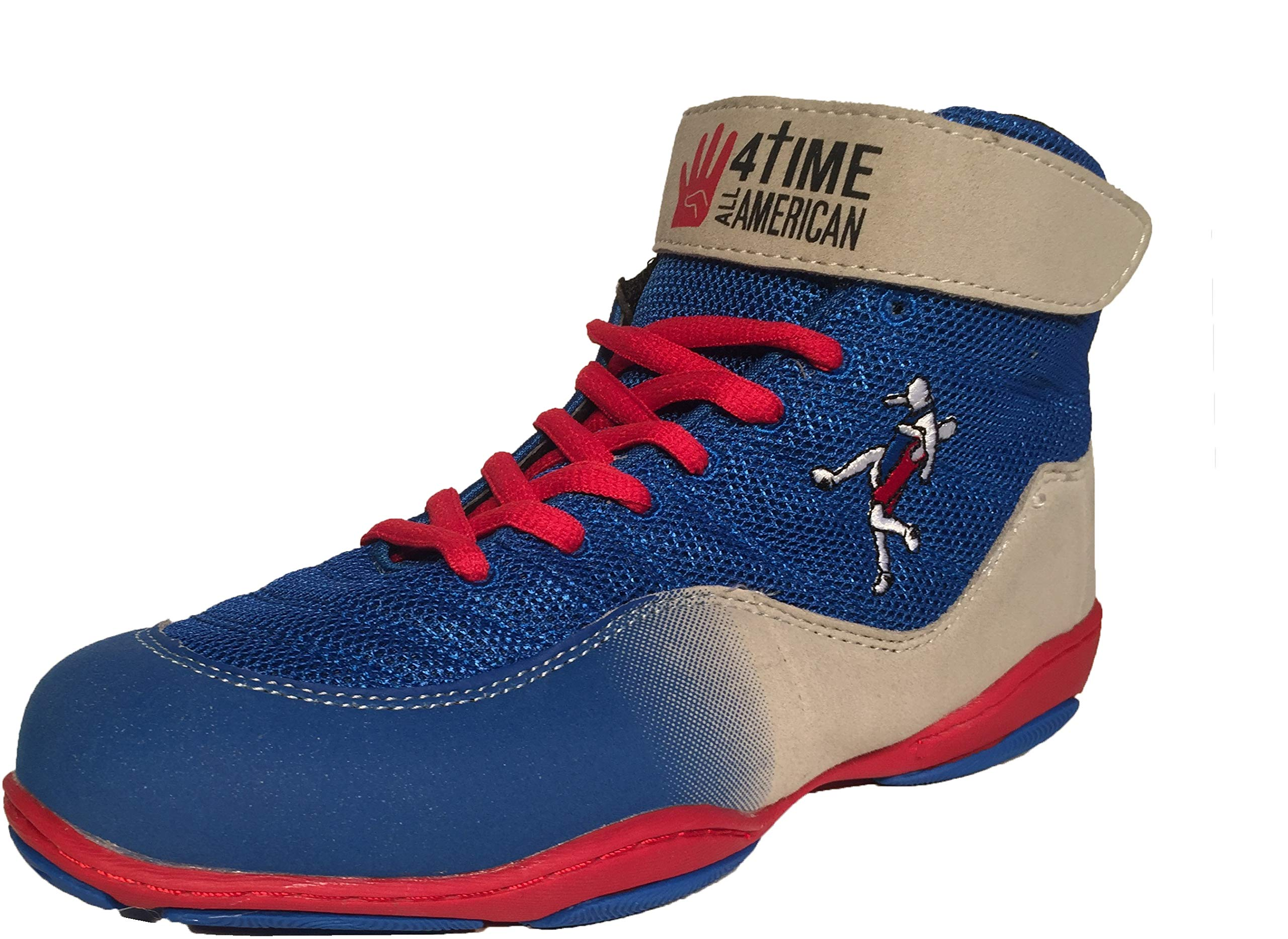 4-Time All American The Patriot, Blue Wrestling Shoes Size 4 by 4-Time All American