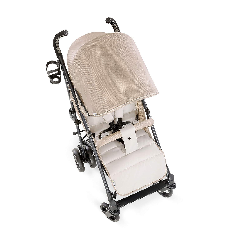 Hauck//Vegas//Buggy mit Liegefunktion//flach zusammenklappbar//leicht//aus Aluminium//Getr/änkehalter//ab Geburt bis 25 kg//Fungi Beige
