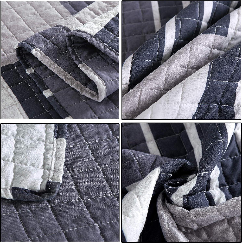 WOLTU/® BD12m01-a Tagesdecke Bett/überwurf Steppdecke Patchwork Wendedesign Bettdecke Stepp Decke Doppelbett unterf/üttert und gesteppt 150x200 cm