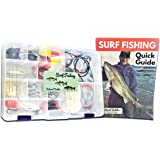 Tailored Tackle Saltwater Surf Fishing Kit 82 Pc Tackle Box with Tackle Included   Surf Fishing Rigs & Saltwater Fishing Lures   Hooks Leaders Swivels for Salt Beach Gear Equipment