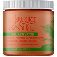 Hawaiian Silky Texturizing Gel Activator, 16 fl oz - Natural Protein Extracts to Style & Moisturize Dry and Damaged Hair…