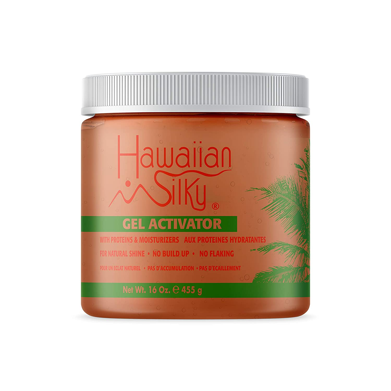 Hawaiian Silky Texturizing Gel Activator, 16 fl oz - Natural Protein Extracts to Style & Moisturize Dry and Damaged Hair - for Color Treated Hair - Good on Men, Women & Kids