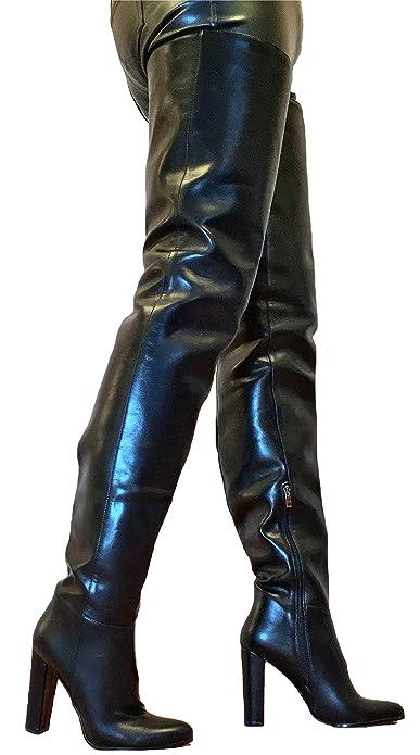 f3c3cc3c50a45f generisch Exklusiv Sexy Damen Schuhe Overknee Stiletto Stiefel Männer Boots  C6 (46 EU
