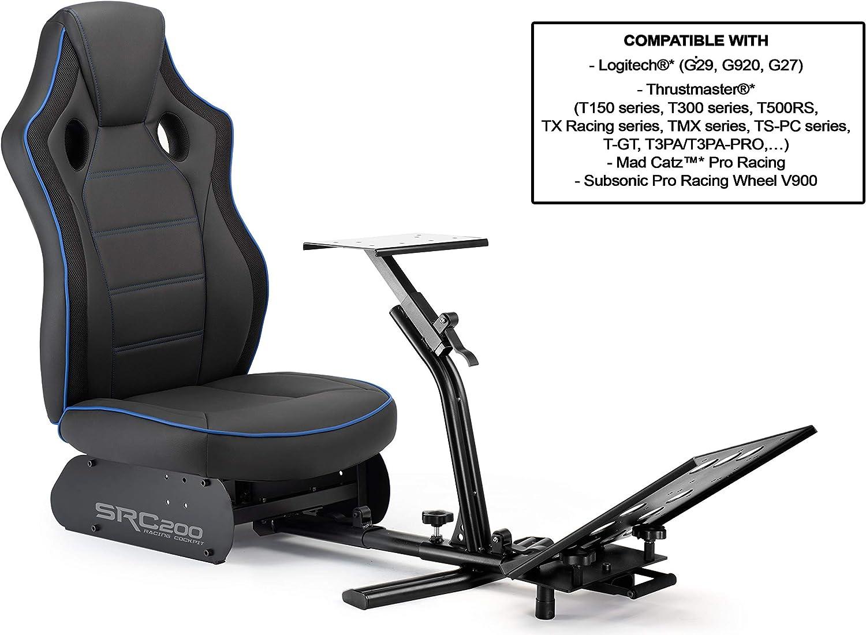 Subsonic - Asiento de simulación de cubo con soporte para volante y pedales, Driving SRC 200 (PS4 / Xbox One/PC): Amazon.es: Videojuegos