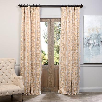 Half Price Drapes BOCH KC105A 108 Blackout Curtain Pemba Gold 50quot
