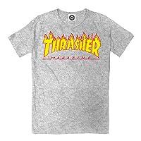 Thrasher Flame Logo Tee Navy Blue