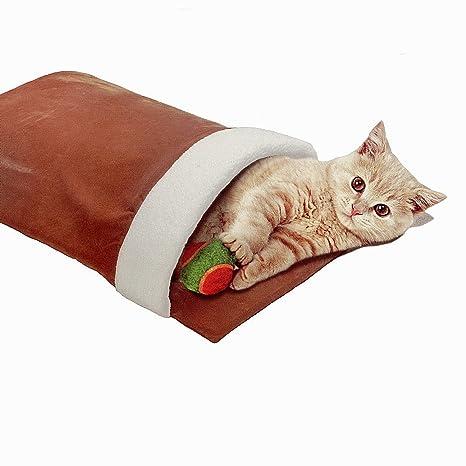 Suave y mullido gato cama gato cueva gato túnel 65 x 32 x 23 x cm