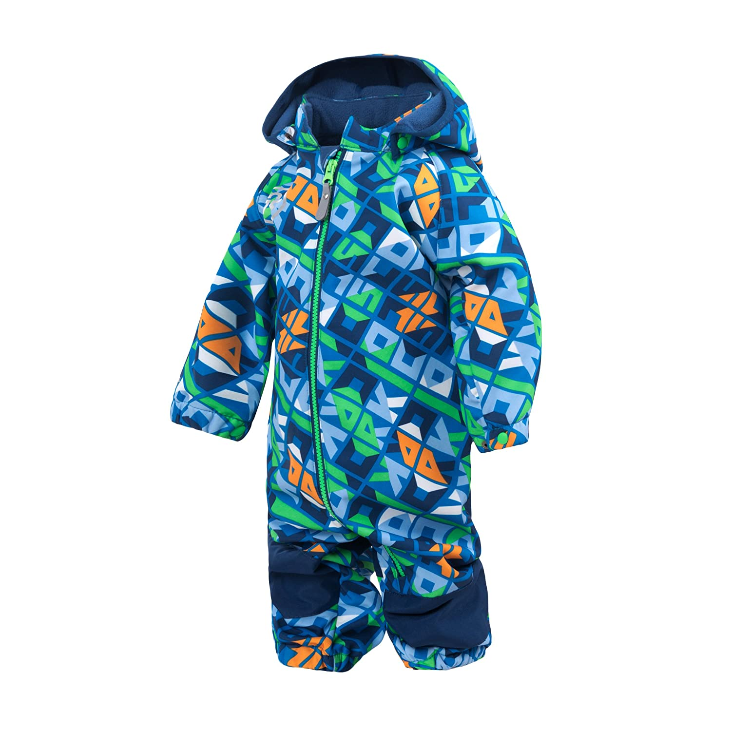 Color Kids.Ski-Anzug, 103127-188, Scandia Softshell Overall, Estate Blue