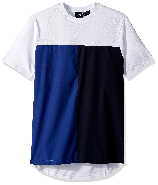 A|X Armani Exchange Men's Color Block Short Sleeve Tee 3ZZMBAZJM5Z2105